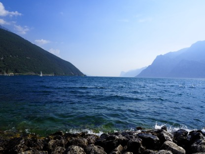 Blick von der nördlichsten Spitze des Gardasees